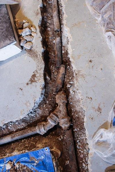 how to break up a basement cement floor