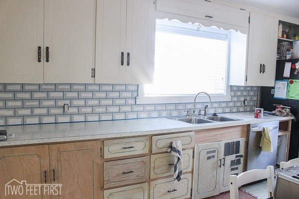 diy subway tile backsplash 14