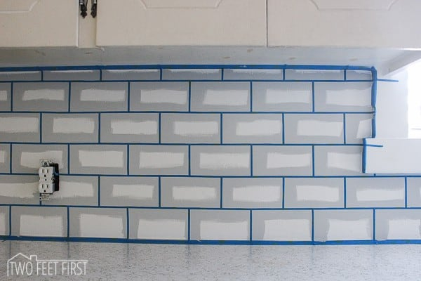 Diy cheap kitchen backsplash for Back painted glass tile