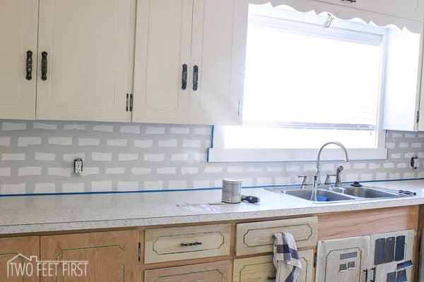 diy subway tile backsplash 7