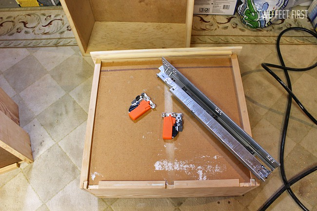 Building Cabinet Drawers Adding Blumotion Slides