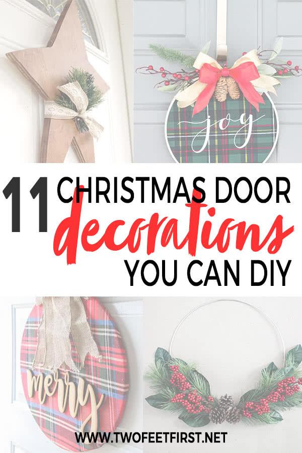 11 Christmas Door Decorations You Can Diy