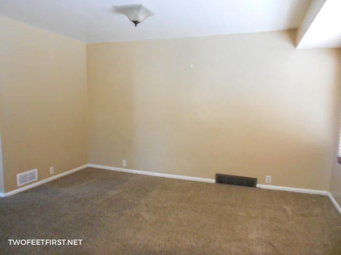 brown wall living room