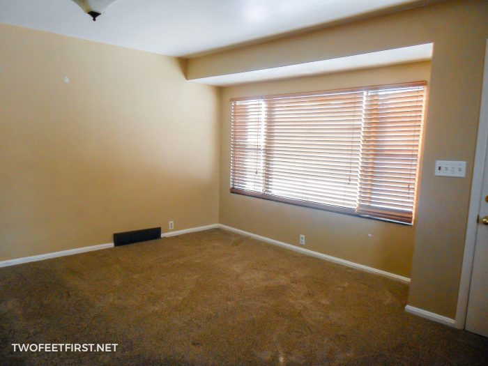 Living room with brown walls