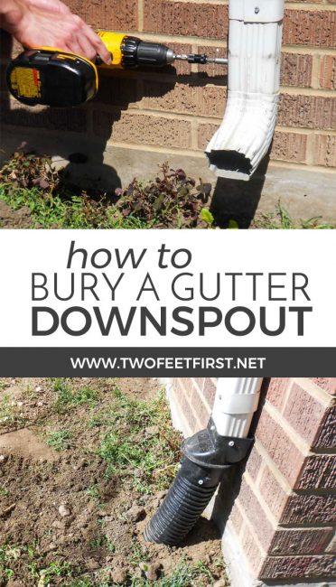 bury a gutter downspout