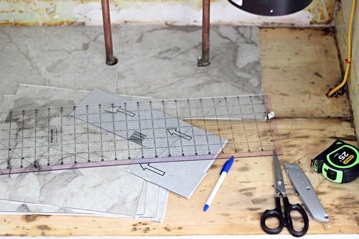 Adding Vinyl Tile Under the Sink