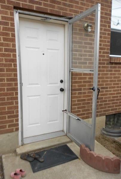 Back door Before