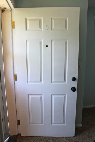 how to paint exterior metal doors