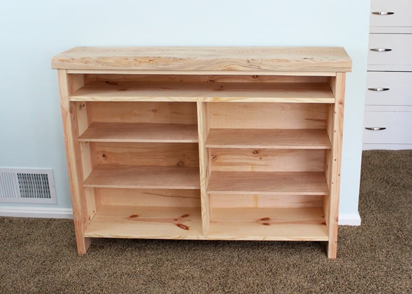 wood tv stand before tung oil