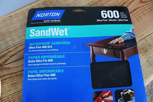 Waterproof Sandpaper for tung oil