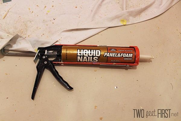 Foam liquid nails