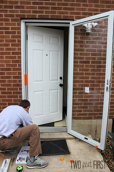 Adding new storm door