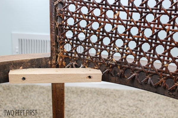how to transform a cane barrel chair