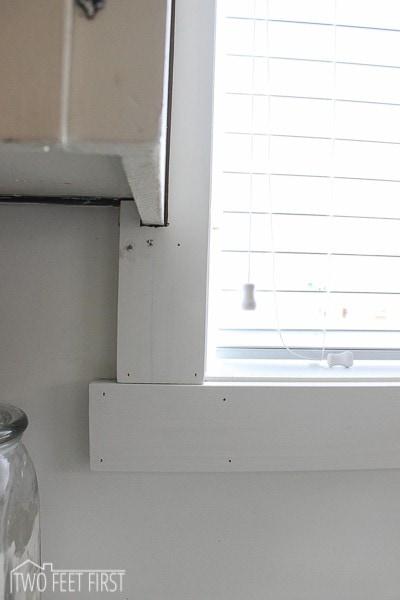 Adding Trim Around Kitchen Window