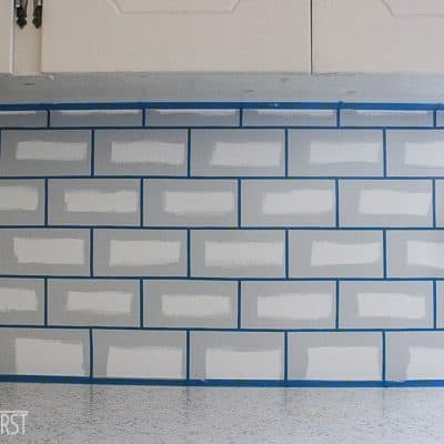 DIY cheap kitchen backsplash by using paint