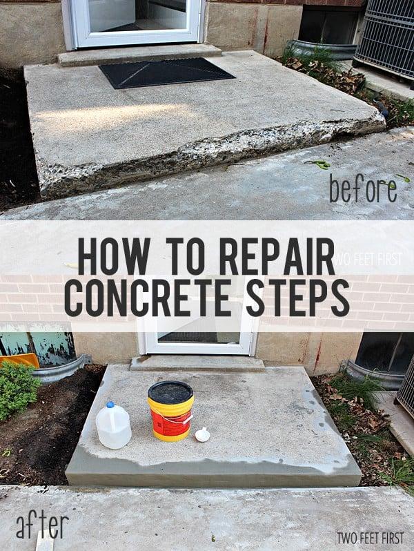 repair cement steps