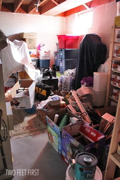 Messy-basement
