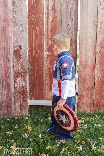 kid captain america costume
