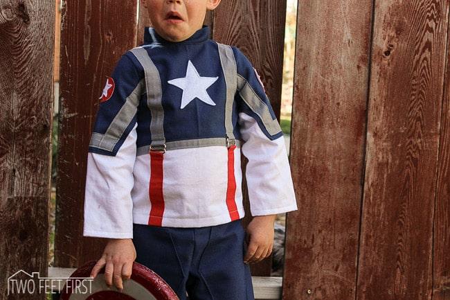 homemade captain america costume