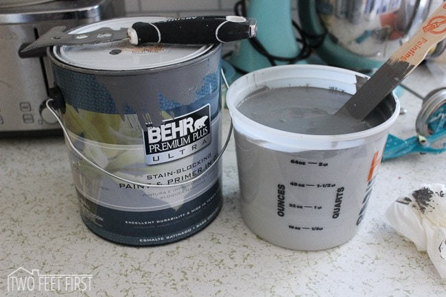behr painted kitchen cabinets