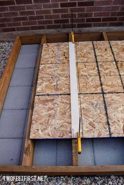 How to build a floor for a shed.