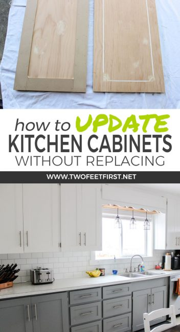 Want to update kitchen cabinet without replacing them. Learn how to update kitchen cabinets for cheap by adding trim and painting the cabinets.