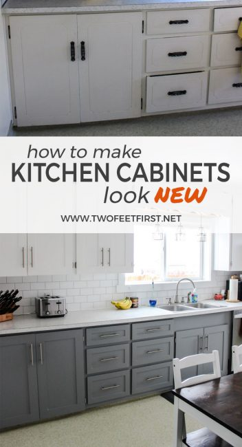 Are you wondering how to update your kitchen cabinets on a budget? This is a simple way to make your cabinets look modern with paint and trim.