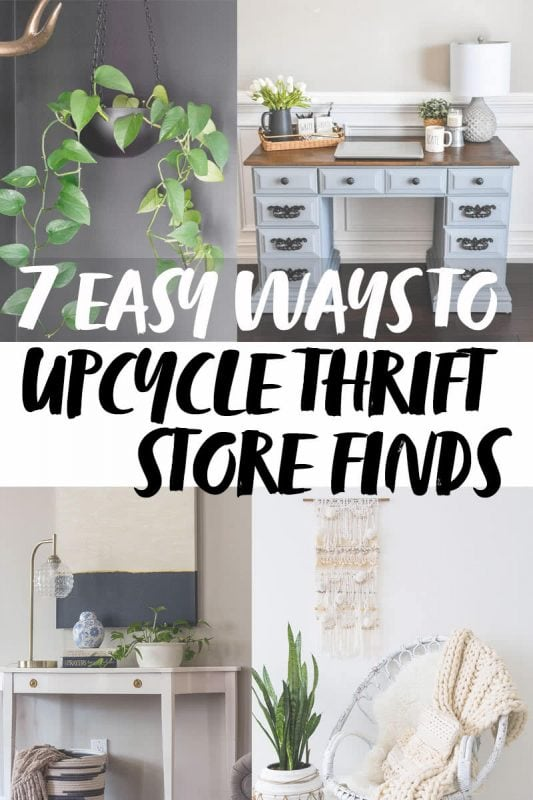 7 Easy Ways To Upcycle Thrift Store Decor Finds Twofeetfirst