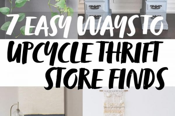 seven upcycle thrift store finds
