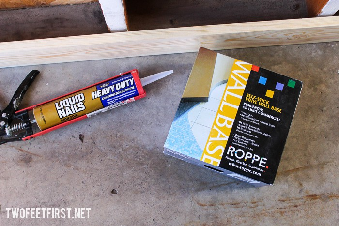 How to add vinyl trim to garage to prevent water damage.