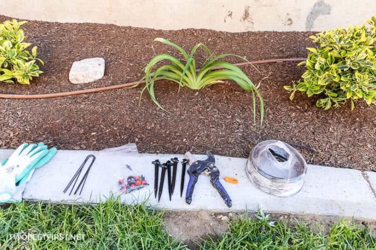 supplies to DIY drip irrigation system