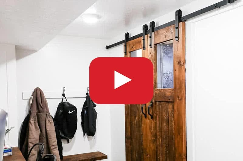 image to youtube video about building barn doors
