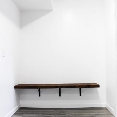 how to build a floating bench