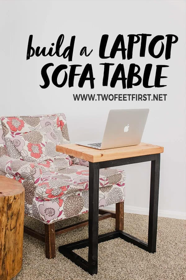 DIY laptop sofa table