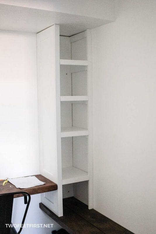 add trim to closet organizer