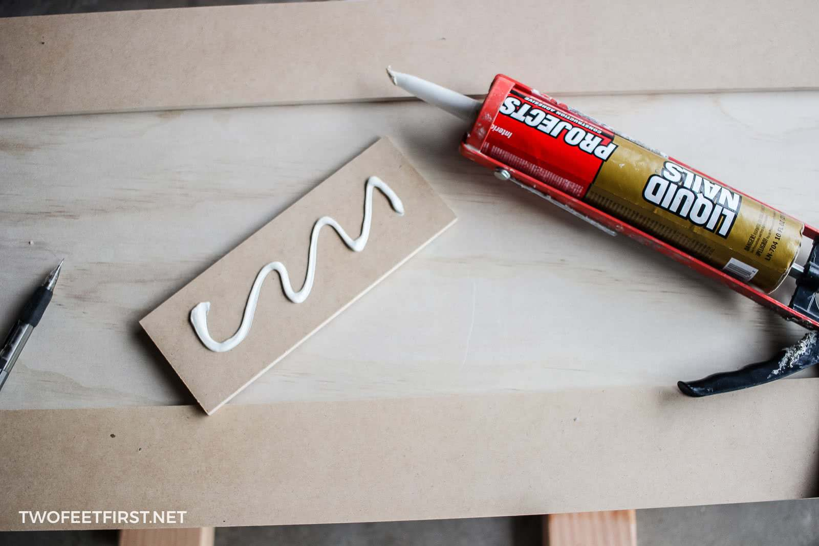 use liquid nails on trim pieces