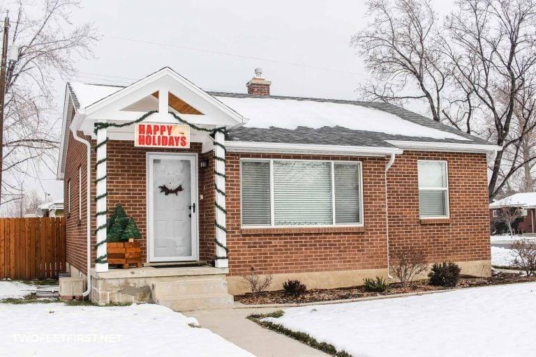 Budget-Friendly Christmas Porch Decor