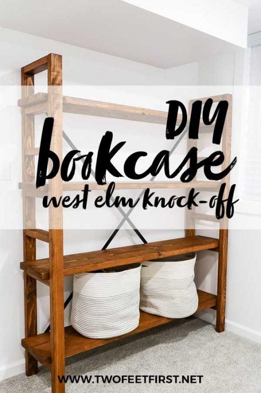 DIY bookcase west elm knock-off