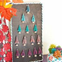 DIY Colorful Bottle Brush Trees Christmas Decor