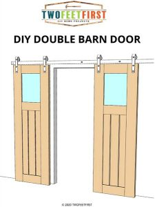 Double Barn door plans