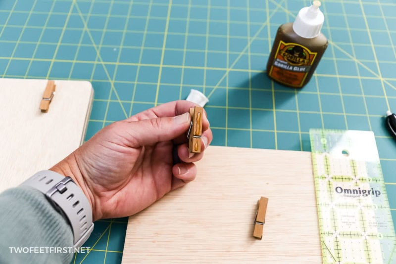 gorilla glue used to glue clothespins