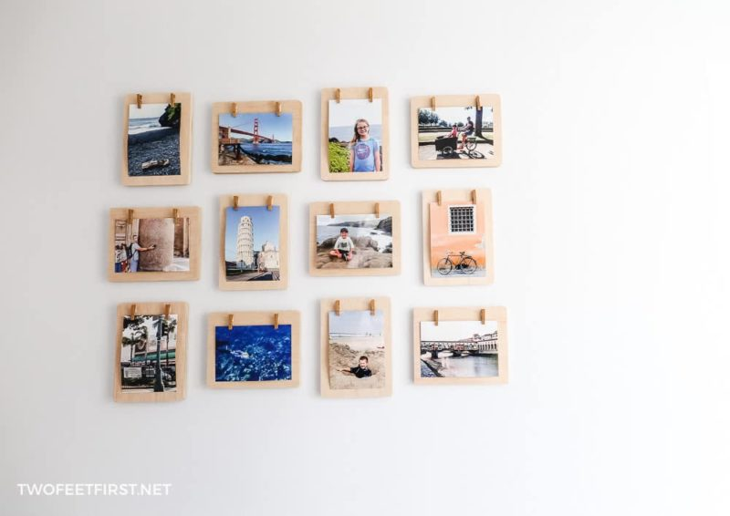 clothespins frames for pictures