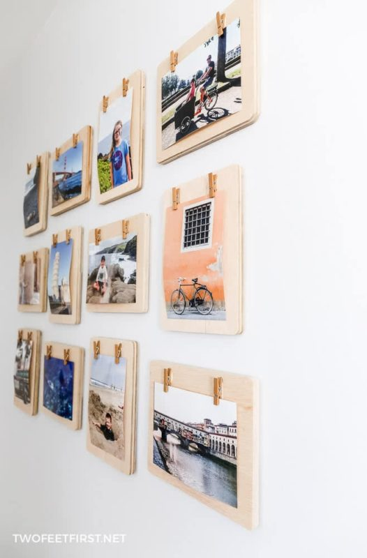 DIY clothespins frames