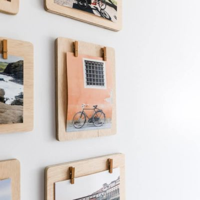 display pictures with clothespins frames