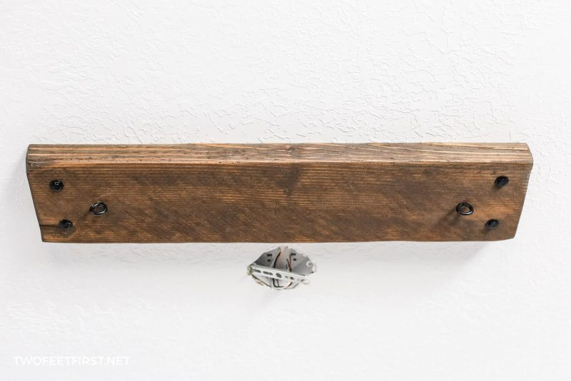 secure wood ceiling support