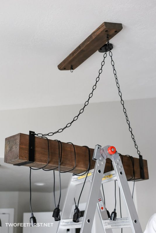 hang chain for wood chandelier
