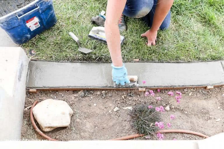 Install Concrete Landscape Edging | AKA: Concrete Border