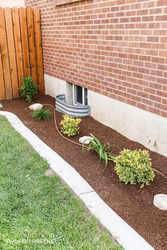 DIY concrete landscaping edging