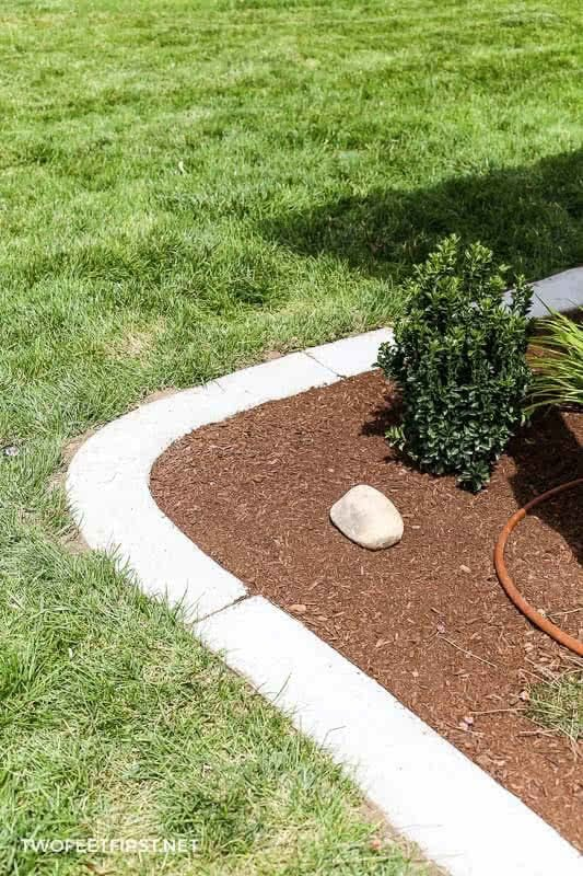 DIY concrete borders