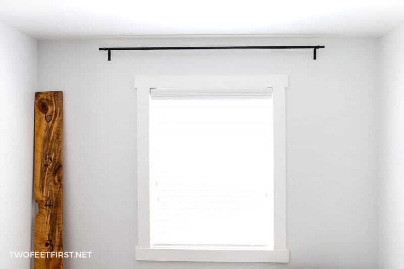 homemade curtain rod